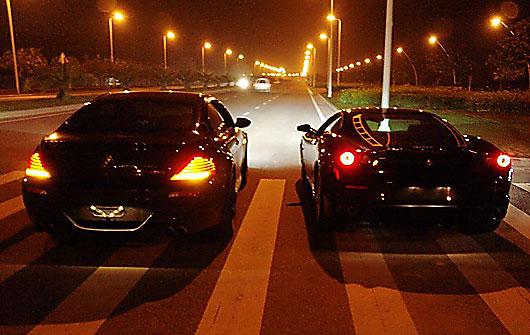 那个激情的夜晚 宝马m6狂飙法拉利f430(组图)