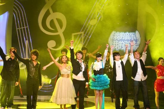 """10月23日,""""伊利优酸乳大学生音乐节"""" 以""""可爱的中国""""为主题在西安举行"""