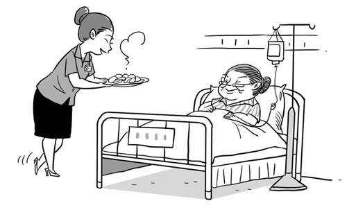 包饺子的手绘图